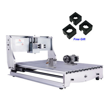 DIY 4 Axis Rack Engraving Machine Aluminum 6040 CNC Frame Kit with NEMA 23 57 Stepper Motor Bracket Couplings pcb engraving machine nema 23 cnc stepper motor 3nm 3a 57 76 4 wires for cutting lather