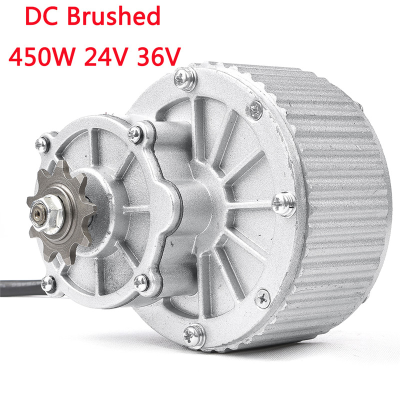 24V 36V 450W Brushed Gear DC Motor For Electric Bike Engine Ebike Rear Wheel Motor E-Scooter Bicycle Accessories MY1018 my1018 250w 24v dc gear brushed motor electric bicycle kit electric bike kit e scooter engine bike accessories