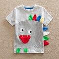 Venta al por menor! muchacho de los niños del verano cabritos de la camiseta de dibujos animados manga corta t camiseta para niños de la historieta encantadora 100% algodón camiseta para niños