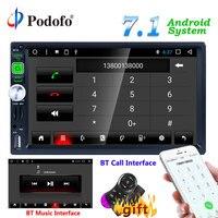 Podofo 2din Andriod 7,1 автомобиль радио MP5 auroradio gps навигации Bluetooth, Wi Fi, FM радио RDS AUX phonelink DVR Автомобильный мультимедийный плеер