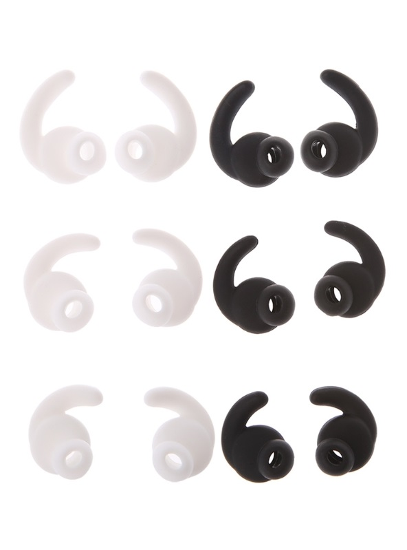 ALITER Silicone In-Ear Earbuds Eartips Cover With Ear Hook ForJBL REFLECT Sports Bluetooth Headset Earphone 3 Pairs (S/M/L)