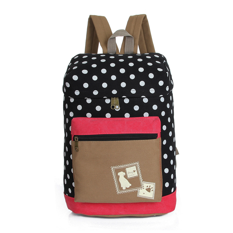 2017 Fresh Canvas Women Backpack Big Girl Student Book Bag Barrel Shape Laptop Bag Ladies School