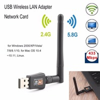 600Mbps WiFi Adapter Mini Wireless Wi Fi Adapter Dual Band 2 4GHz 5GHz Network Card 802