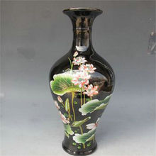 Chinese Old Beautiful color Ceramic Handwork vase Collectible