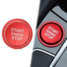 Pressione o Botão Interruptor de Parada de Partida Do Motor do carro Anel Da Tampa Da Guarnição para Volkswagen VW Golf GTI 7 R Jetta CC Arteon Atualização Styling