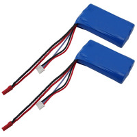 2Pcs Lot 7 4V 2S 1500mAh Li Ion Battery 15C JST Plug For WLTOYS V913 RC