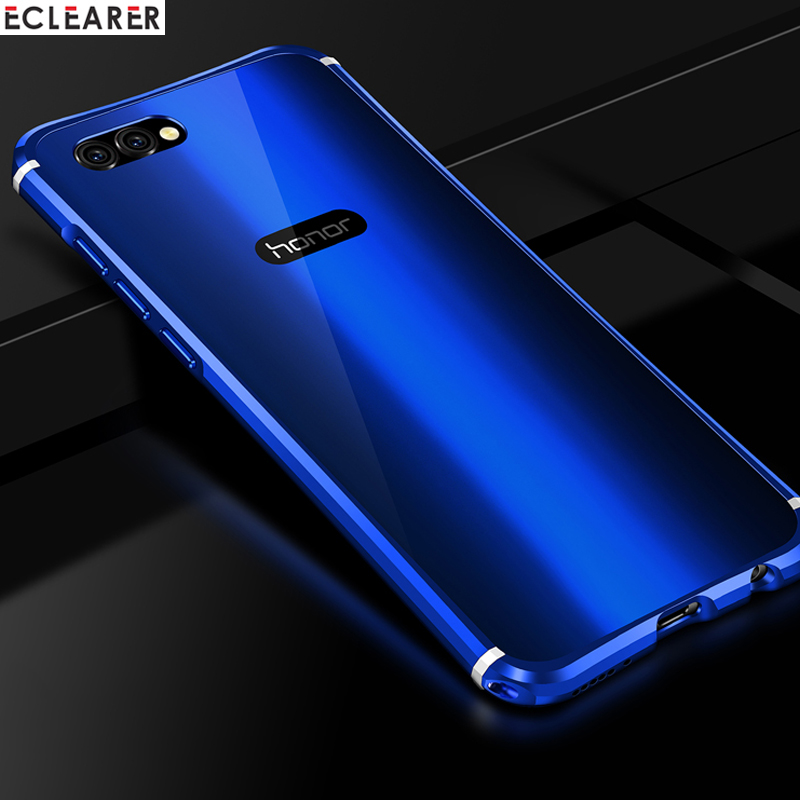 Luxury Case For Huawei Honor V10 View 10 Plated Aluminum Metal Bumper + Acrylic Back Cover Case For Huawei Honor View 10 Coque iPhone XS