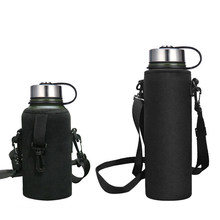 Water Bottle Cover Bag Pouch Elastic Neoprene Protector Tea Cup Coffee Drinking Mug Insulated Water Bottle Bag Shoulder Strap(China)