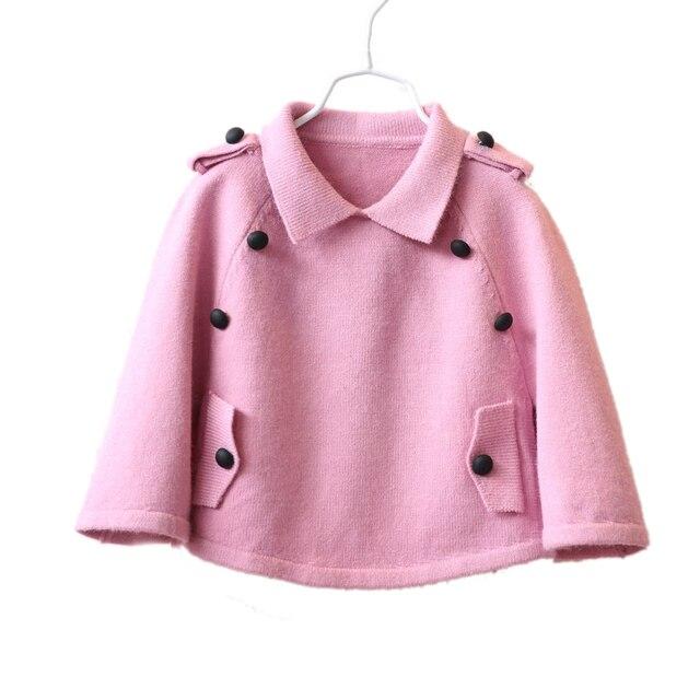 2017 бат рукав девушки свитер дети вязаный свитер пальто мода детские девушки шали вязать свитер детей плащ плащ пальто 4 цвет