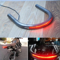 Motorcycle Seat Frame Hoop Loop Brat Style With Led Turn Signal Brake Light For Cafe Racer Modified Custom