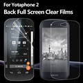 For Yota Phone 2 Tempered glass film for Yotaphone 2 phone Front and Rear Screen Protector film TPU Soft film