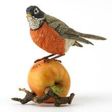 head Arts Crafts deer Resin British designer robin station apple a realistic animal gift