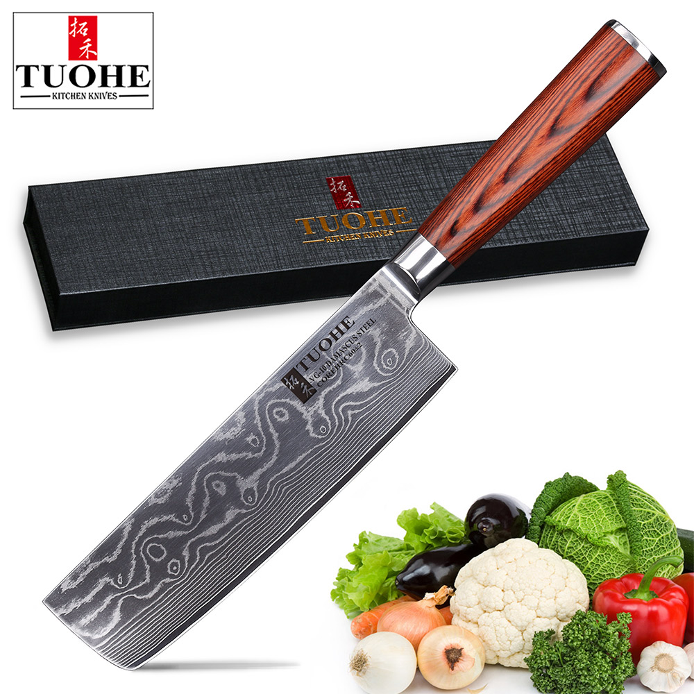 Tuohe Damascus Knives 7 Inches Chopper Knife Japanese