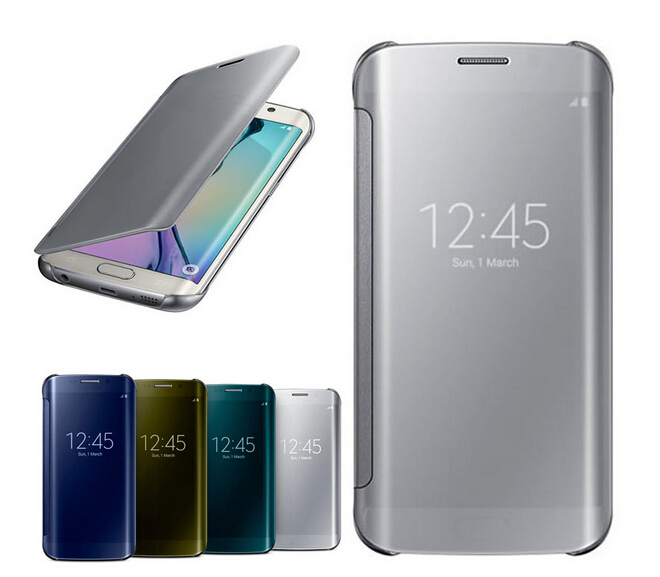 Best S6 edge Flip Screen Mirror cases cover view Window Case Samsung Galaxy Edge s&Drop Shipping - GSD Industrail Co.,Ltd store
