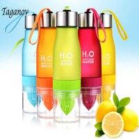 650 ML Soku z Cytryny H2O Owoców Zaparzaczem Drinkware Butelka Wody Na Zewnątrz Przenośne Sportowe Shaker Butelka BPA DARMO