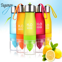 650ML H2O Lemon Juice Fruit Water Bottle Infuser Drinkware For Outdoor Portable