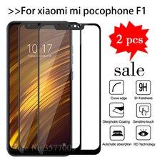2 יח\חבילה מזג זכוכית עבור Xiaomi Pocophone F1 מסך מגן Xiomi Poco x3 Pocofone F1 Mi טלפון F 1 Pocof1 מגן סרט