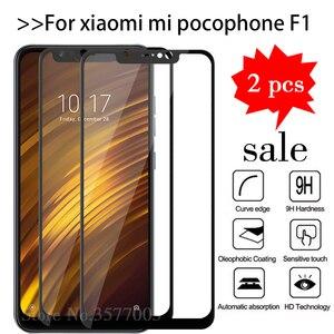 2pcs/lot Tempered Glass For Xiaomi Pocophone F1 Screen Protector Xiomi Pocofone F1 Mi Poco Phone F 1 Pocof1 Mif1 Protective Film(China)