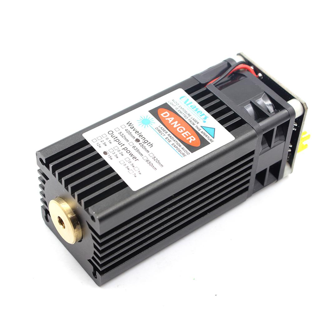 Oxlasers 15W High Power Blue Laser Module Fixed Focus Laser Head For DIY  CNC  Engraver Cut Plywood
