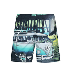 New Summer Men Beach Shorts Quick Dry Swimsuit Print Casual Hip Hop Board Shorts Bermuda Masculina Boardshort Male Shorts bermuda masculina skull print jeans shorts men big size 36 38 men s summer shorts 2017 male denim shorts homme jean 533