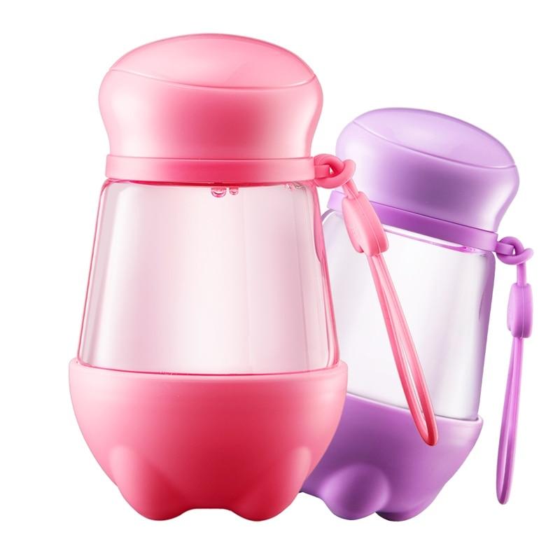 한국 귀여운 유리 병 휴대용 물 컵 패션 커피 차 잔 - 주방, 식당 및 바 - 사진 6