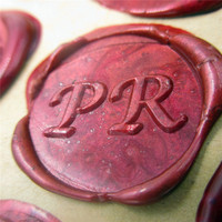 Customize Box Gift Set Alphabet Double Letter Initials Personalized Name Sealing Wax Wedding Wax Seal Custom