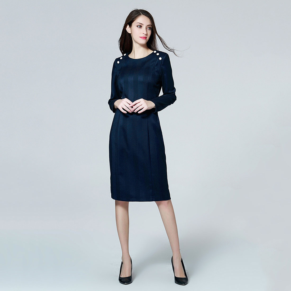Marina Kaneva New Fashion Elegant Plus Size Dress Female ...