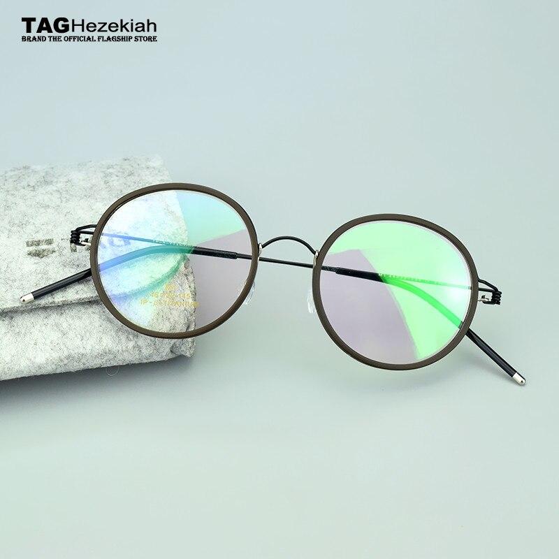 New nerd occhiali retro occhiali rotondi TAG di Marca titanium occhiali cornice uomini donne miopia Occhiali da vista oculos de grau