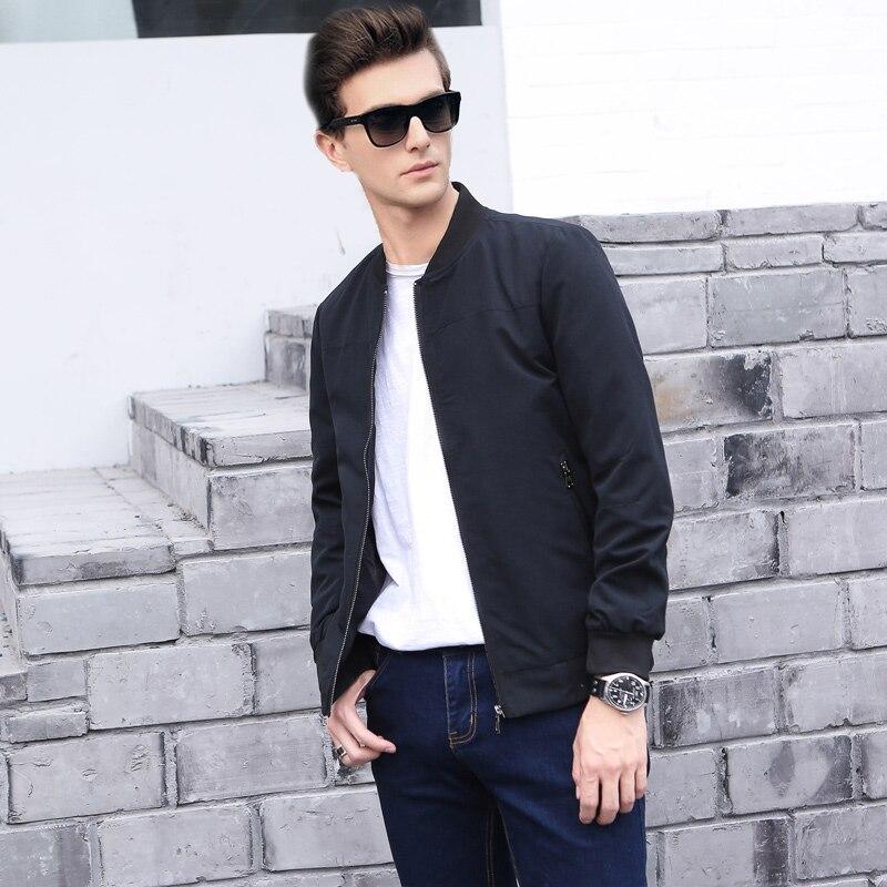 Nouveau 2017 Veste Hommes Mode Casual Lâche Mens Veste Bomber Veste Zipper vestes et Manteaux Slim Solide Mince 4XL 5XL