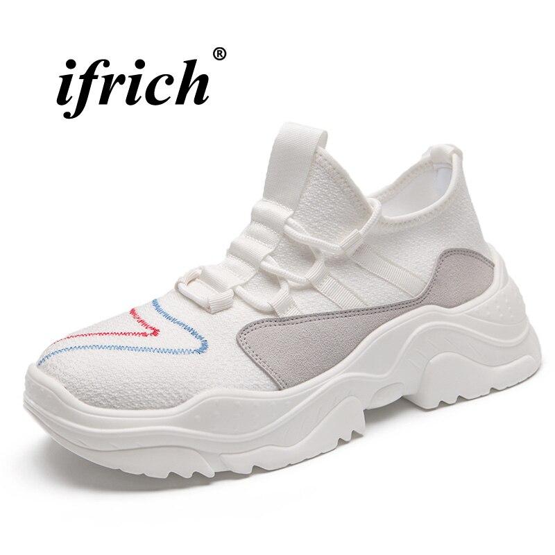 Sports de plein air Chaussures Pour Hommes Confortable Hommes Trail Running Chaussures À Semelles Épaisses Designer Sneakers Noir Blanc Chaussures de Sport Mâle