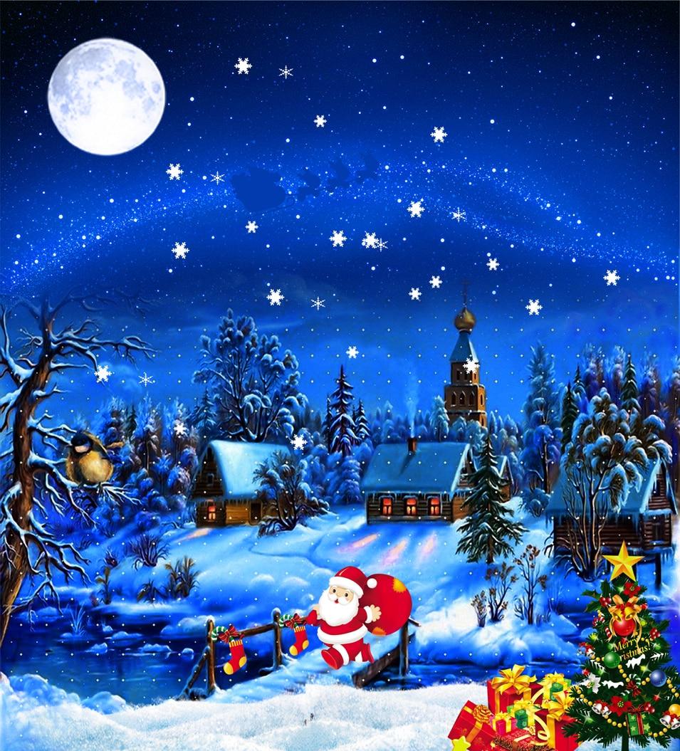 Sfondi Natalizi Jpg.Us 18 7 Kate Buon Natale Fondali Photography Cielo Blu Scuro Notte Terra Neve Sfondi Studio Fotografico Babbo Natale Alberi Di Natale In Sfondo Da
