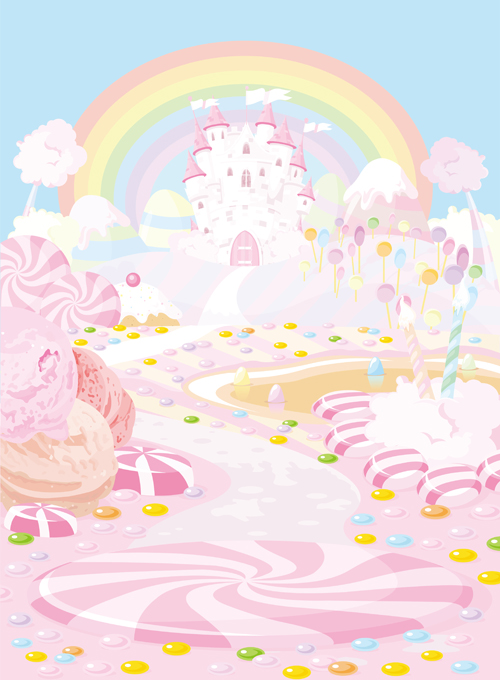 {Custom size} candy photography backdrops printed with pink castle pattern. Art fabric background for studio newborn D-8229 5ft 7ft photography backdrops spring pink hazy newborn photography background fabric studio backdrops vintage backgrounds