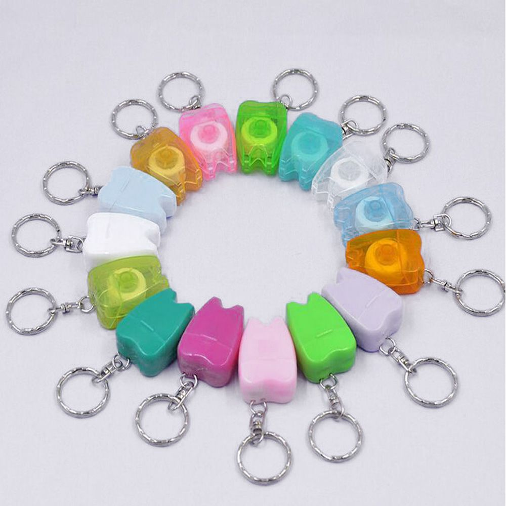 Schönheit & Gesundheit 2 Pcs 15 Meter Zahnseide Keychain Mini Gesundheit Hygiene Schlüssel Ring Tragbare Zufällige Farbe Neue