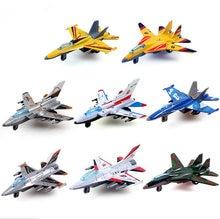 Mini Pull Back Aircraft Models Toys Metal Alloy Plane Toy Favorites Kids Christmas Gift Education Children Aircraft 8pcs/lot