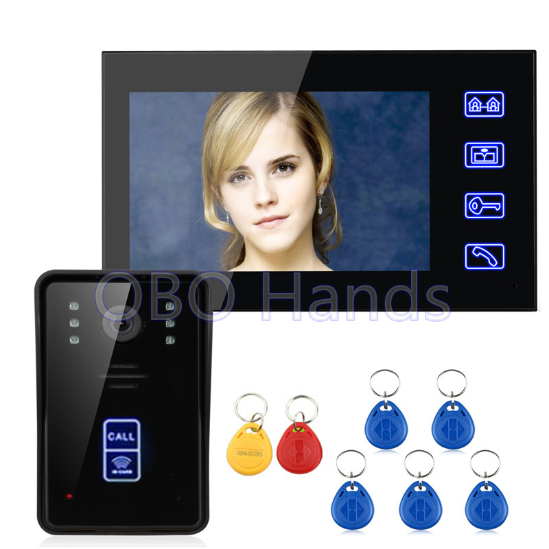 Hot sale 7 Color Video Door Phone Video Intercom 1 Monitor 1 Doorbell Camera Intercom Kit IR Night Vision Camera for Apartment hot sale tft monitor lcd color 7 inch video door phone doorbell home security door intercom with night vision