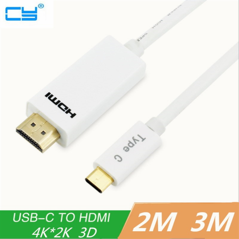 NEW ! Hot Sale Hubs USB3.1 Type C Port to HDMI Digital Cable AV Female Adapter for Macbook Cable Converter 4K 2m 3m usb 3 1 10gb s type c male to hdmi male port 1080p av digital adapter cable for new macbook letv to output audio video