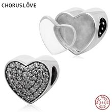 New DIY Photo Heart Charms 925 Sterling Silver Heart Beads fits Pandora Charms bracelets & Necklaces fits pandora charms bracelets poetic blooms beads 100% 925 sterling silver jewelry free shipping diy making