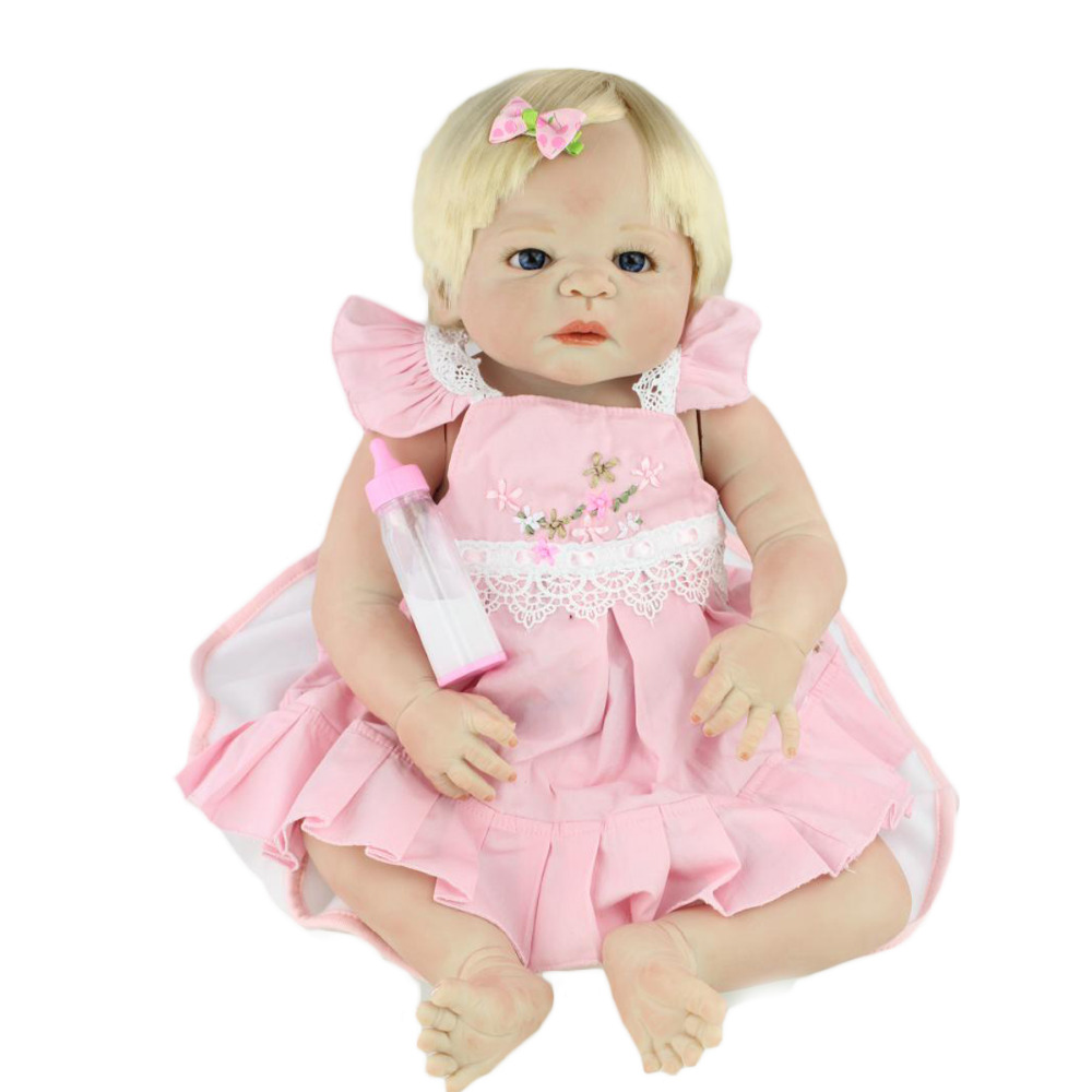 Full body silicone baby for sale 2015 - 2016 Hot Sale Fashion Childer Toys 58cm Full Body Silicone Reborn Babies Dolls Vinyl 23 Inch