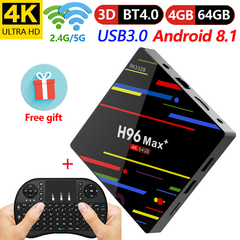 H96 Max Plus 4 GB 64 GB Android 8 1 TV Box RK3328 Quad Core 4G