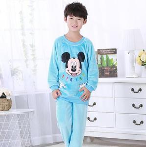 Image 4 - Kinderen Pyjama Herfst Winter Fonds Meisje Jongens Lange Mouw Flanel Coral Down Kids Kledingstuk Nachtkleding Woninginrichting Dienen UE67
