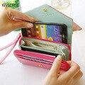 """5.5 """"бумажник Case Девушки Женщин PU Кожаный Мешок Обложка Для iPhone 7 6 6 S Плюс 5S SE 4S Прекрасный Роскошный Case Для Samsung Galaxy S5 S6"""
