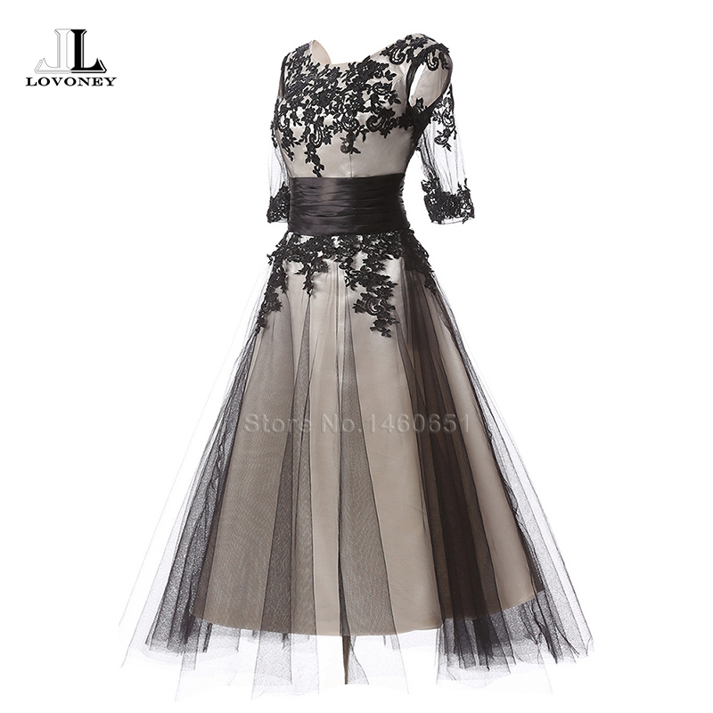Hot Sale Elegant A-Line O-Neck Ankle-Length Evening Dress 2017 Cap ...