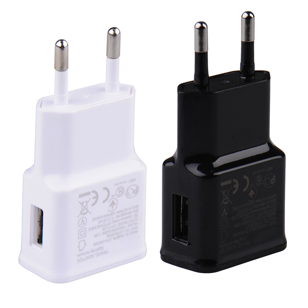 2017 EU Travel Charger Adapter USB Wall Plug Socket Adapter For iPhone 5 5s SE 6 6s Samsung Universal Phone Charger EU Standard
