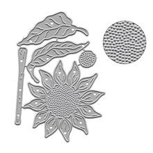 11.3x8.2cm Sunflower Patten Metal Cut Die Stencils Template For DIY Scrapbooking Embossing Paper Card Making Decorative Craft
