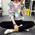 Novelty Pink Big Star Print Harajuku Christmas Hoodies Sweatshirts Women 2017 new Winter Warm Flannel Cashmere Sweatshirts M-XXL