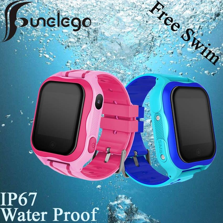 Funelego Waterproof Child GPS Wifi Swimming Watch Touch Screen SOS Smart Watch Phone For Kids Safe Anti Lost SeTracker PK DF25