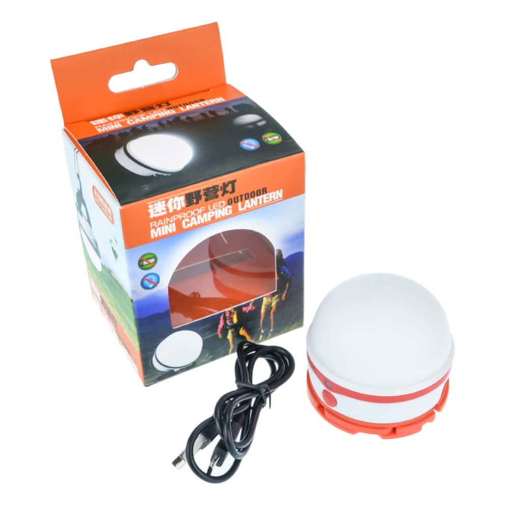 Bright led mini camping lantern outdoor lamp rechargeable tent lampe campsite hanging portable - Lampe camping rechargeable ...