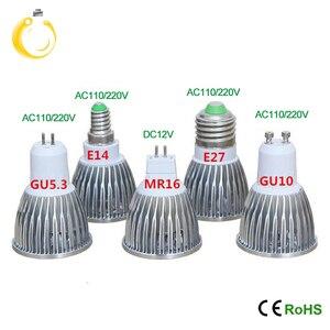 Image 3 - Cob ledスポットライト 9 ワット 12 ワット 15 ワットledライトE27 E14 GU10 GU5.3 220v MR16 12v cob led電球ウォームホワイトコールドホワイトランパーダledランプ
