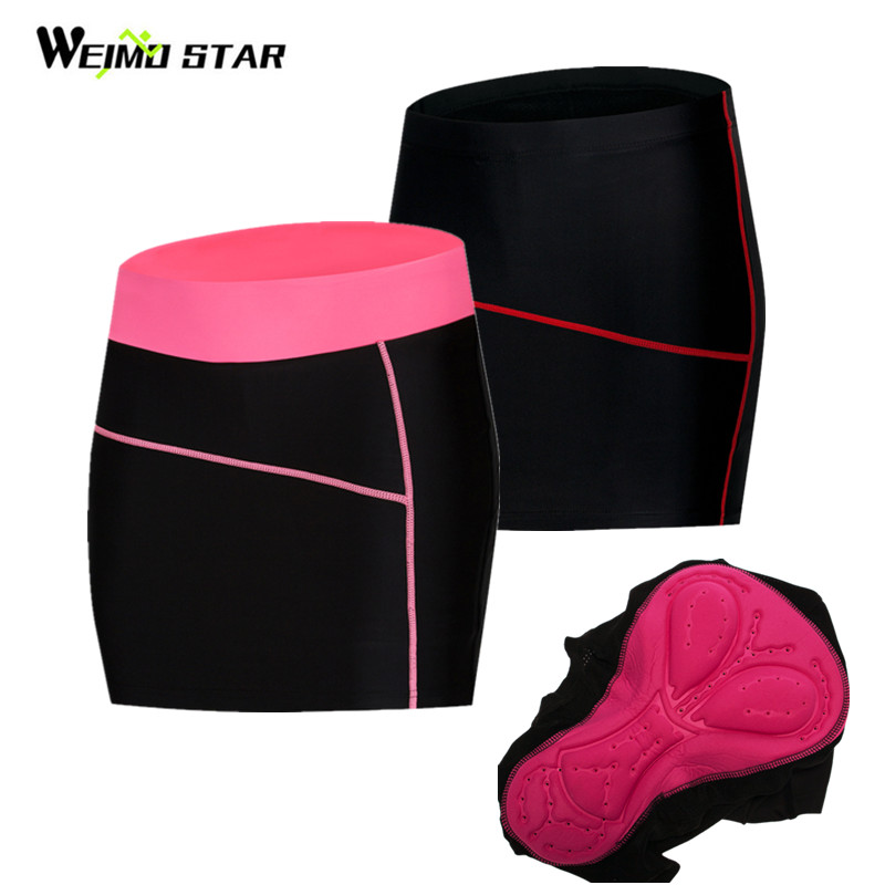 Weimostar Women Cycling Shorts Skirts 4D Gel Pad Summer Ourdoot Sport Black Bicycle Underpant MTB Bike Shorts Maillot Ciclismo