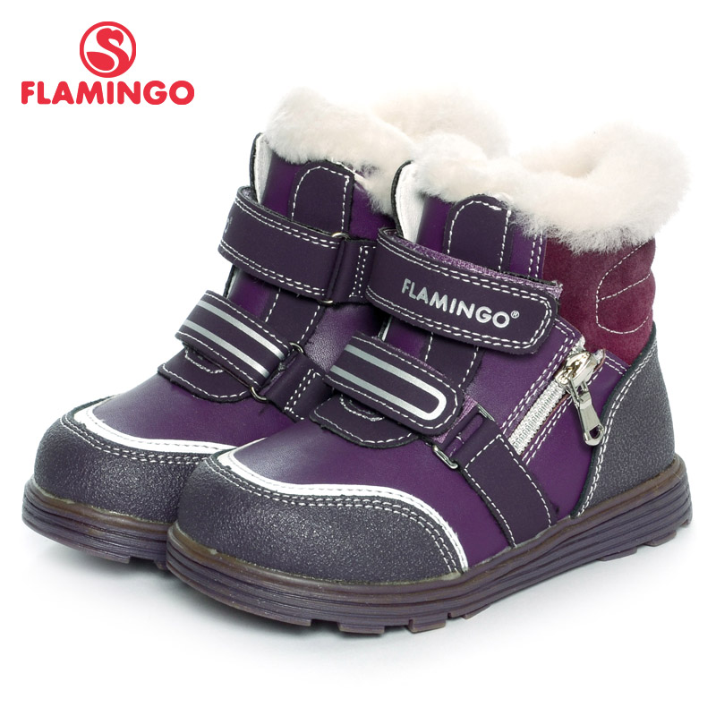 FLAMINGO 2016 new collection winter fashion boots with wool high quality anti-slip kids shoes for girls W6XY323 flamingo 2016 new collection winter fashion boots with wool high quality anti slip kids shoes for girls w6yk041